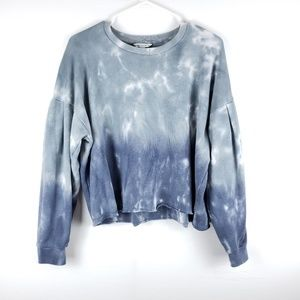 American Eagle Cropped Ombre Tie Dye Sweater Large